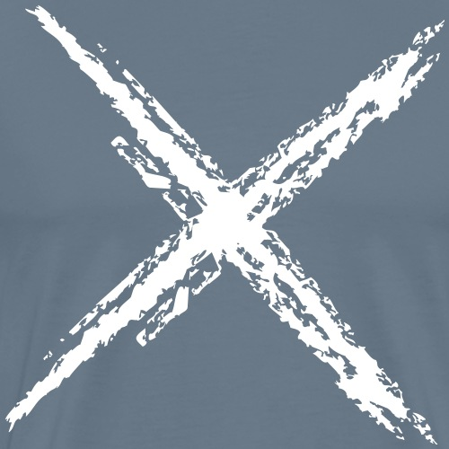 Wegzeichen Nicht folgen - Kreide - Farbe wählbar - Männer Premium T-Shirt