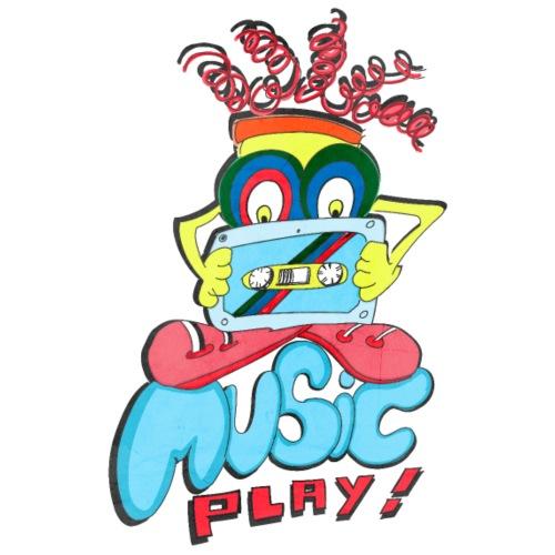 Music Play - Camiseta premium hombre