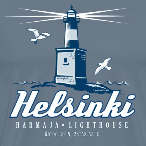 HELSINKI HARMAJAN MAJAKKA - Tekstiilit ja lahjat - Miesten premium t-paita