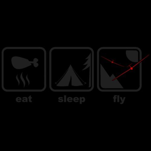 eat sleep fly - Männer Premium T-Shirt