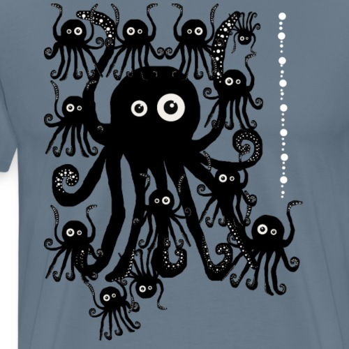 Sweet Octopi by BlackenedMoonArts - Herre premium T-shirt