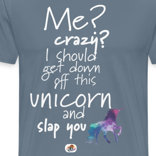 Crazy Unicorn - Light with picture - Men's Premium T-Shirt