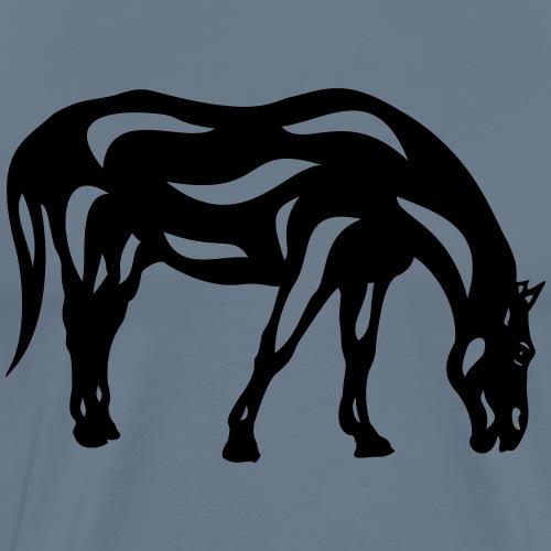 Abstraktes Pferd Hazel - Männer Premium T-Shirt
