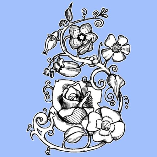 Fleurs rebelles - T-shirt Premium Homme