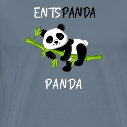 Entspanda Panda Lustiges Design Yoga Panda Bär - Männer Premium T-Shirt
