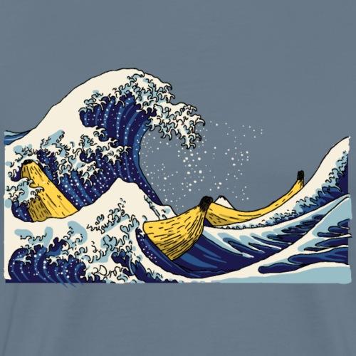De golf van Banana - Mannen Premium T-shirt