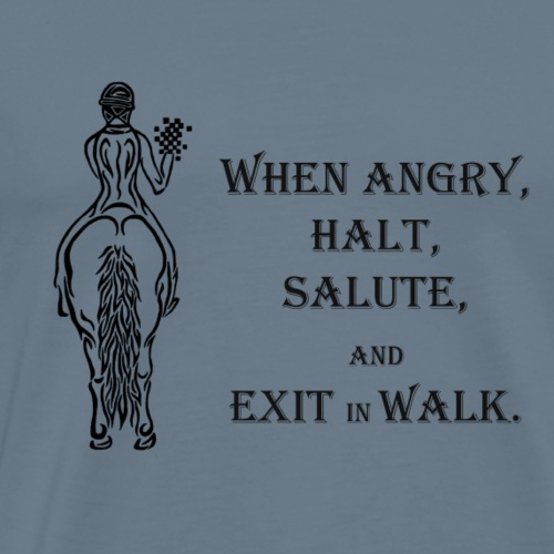 Halt salute and exit inn walk - Men's Premium T-Shirt