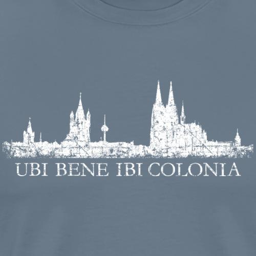 UBI BENE IBI COLONIA Kölner Skyline Köln - Männer Premium T-Shirt