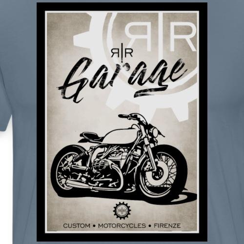 RR GARAGE VINTAGE BIKE - Maglietta Premium da uomo