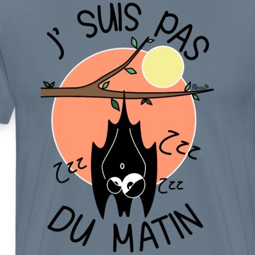 Chauve-souris, J' Suis pas du Matin - T-shirt Premium Homme