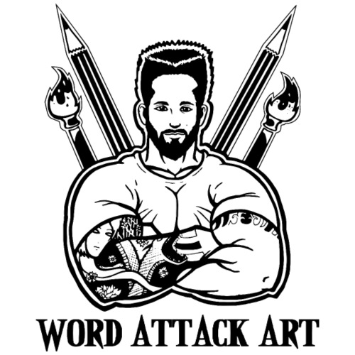Word Attack Art - Männer Premium T-Shirt
