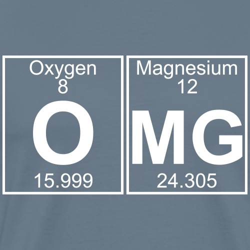 O-Mg (omg) - Full - Men's Premium T-Shirt