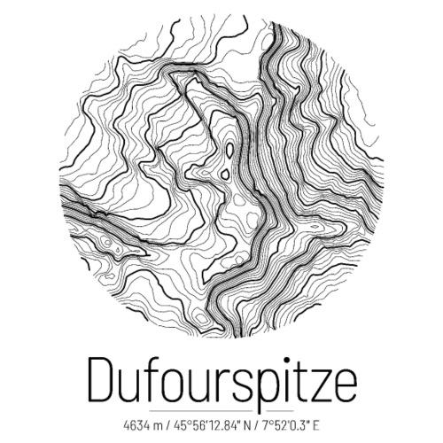 Dufourpitze | Landkarte Topografie Design