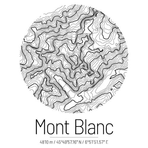 Mont Blanc | Landkarte Topografie Design