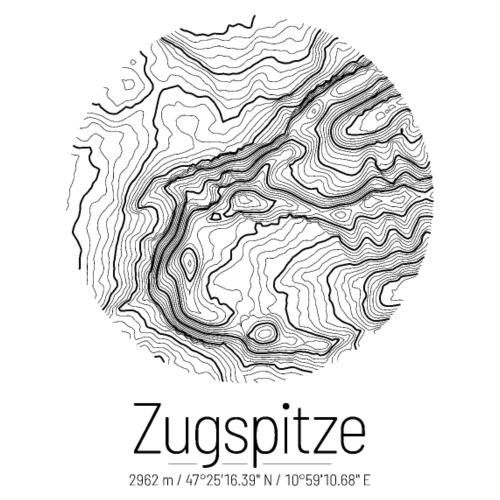 Zugspitze | Landkarte Topografie Design