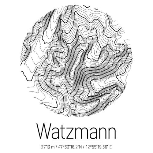 Watzmann | Landkarte Topografie Design