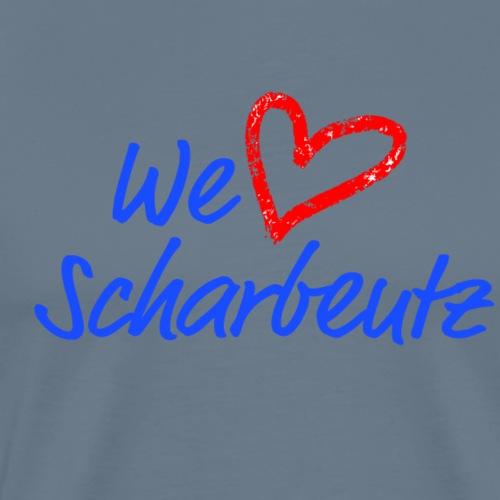We love Scharbeutz - Logo blau/rot - Männer Premium T-Shirt