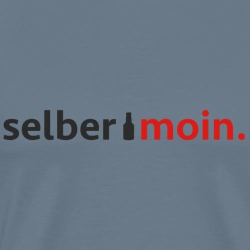Selber moin. Mit Bierflasche in Schwarz / Rot - Männer Premium T-Shirt