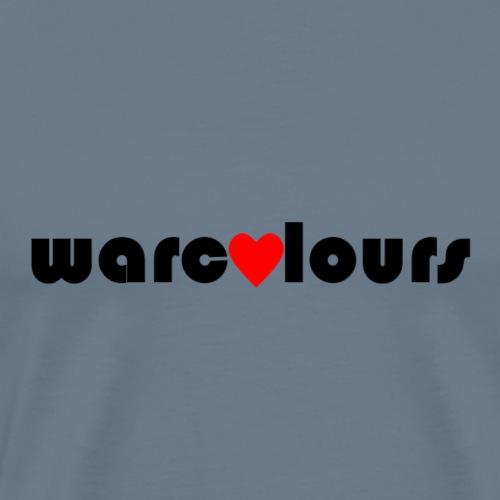 love warcolours black - Men's Premium T-Shirt