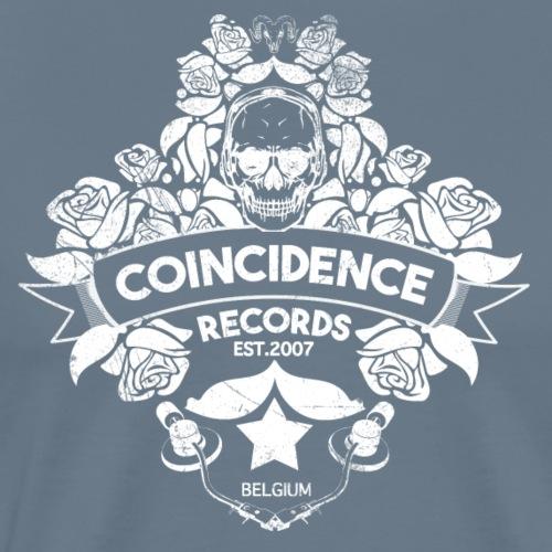 Coincidence Records Logo 2016 White Skull Logo - Mannen Premium T-shirt