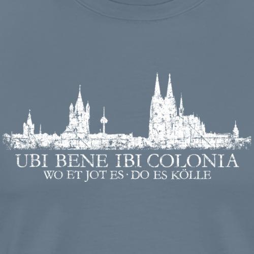 UBI BENE IBI COLONIA Kölnerer Skyline von Köln - Männer Premium T-Shirt
