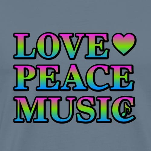 Love Peace Music - Men's Premium T-Shirt