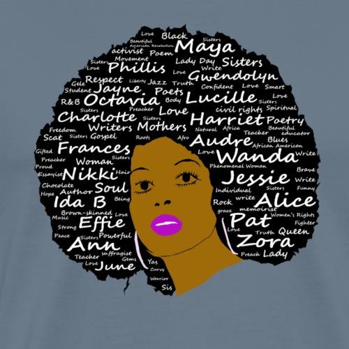 Black History Month Powerful Writers Natural Hair - Men's Premium T-Shirt