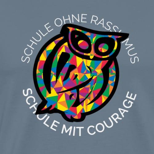 Eule Courage schwarz - Männer Premium T-Shirt