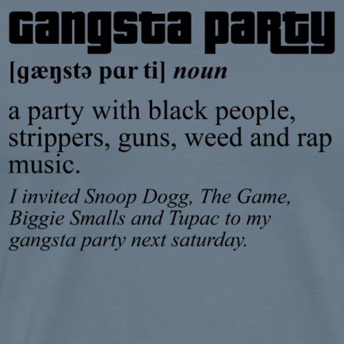 GANG [BLACK] - Maglietta Premium da uomo
