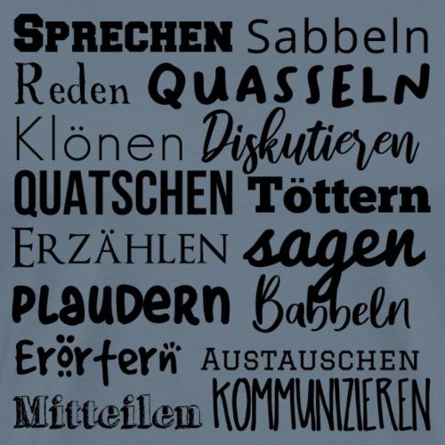 Sprechwörter schwarz - Männer Premium T-Shirt
