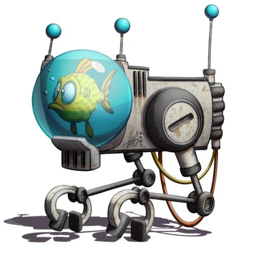 The B.U.B.B.L.E. Robot! - Herre premium T-shirt
