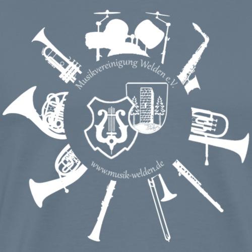 Instrumentenkreis_4000_ws - Männer Premium T-Shirt