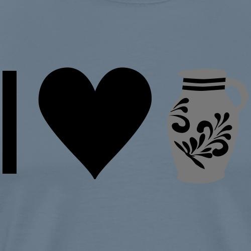 I LOVE BEMBEL - BEMBEL LOVE - Männer Premium T-Shirt