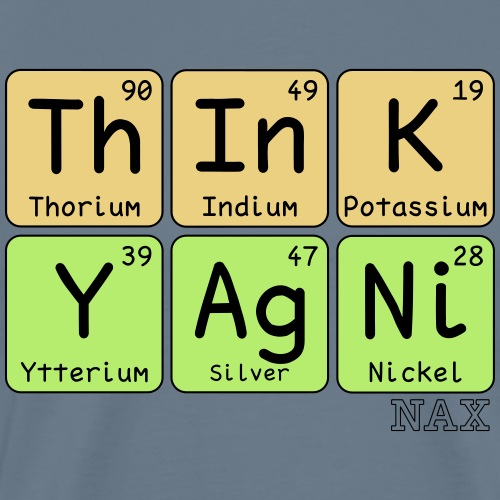 think yagni periodic table style - Premium-T-shirt herr