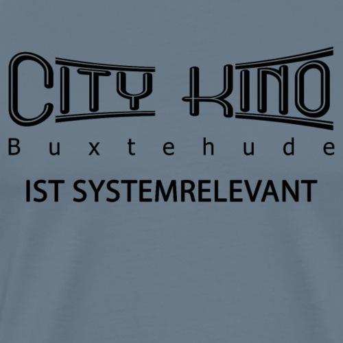 Systemrelevant mit City Kino Logo - Männer Premium T-Shirt