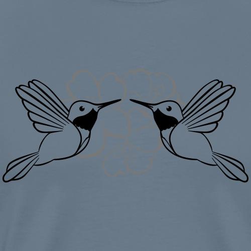 Kolibri + Hibiskus - Männer Premium T-Shirt