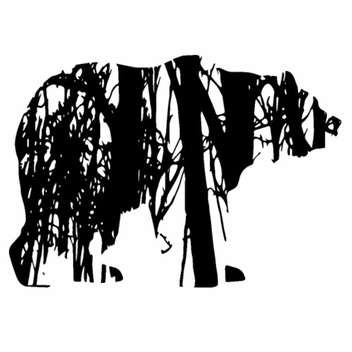 Ours dans la forêt - T-shirt Premium Homme