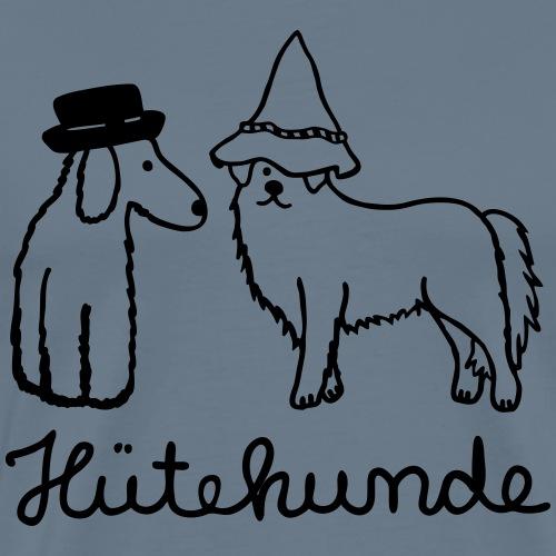 Hütehunde Hunde mit Hut - Männer Premium T-Shirt