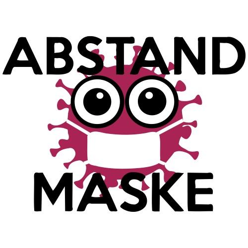 Mit Abstand und Maske gegen CORONA Virus - schwarz