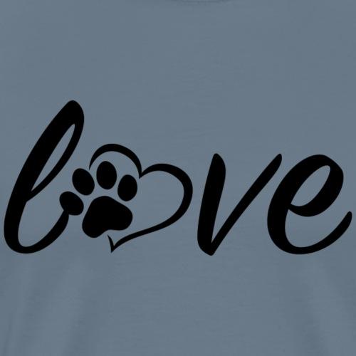 Love paw - Männer Premium T-Shirt
