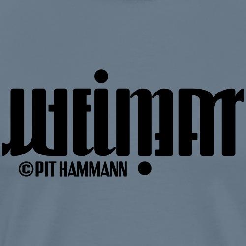 Ambigramm Weimar 01 Pit Hammann - Männer Premium T-Shirt