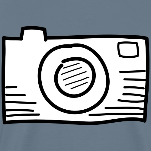 Kamera Grau - Männer Premium T-Shirt