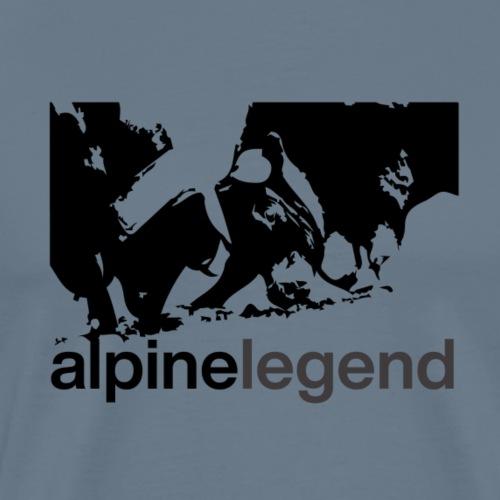 alpine legend : Reine du Val d'Hérens - T-shirt Premium Homme