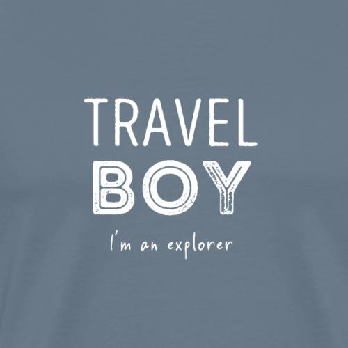 Travel Boy (I'm an explorer) T-shirt - Mannen Premium T-shirt