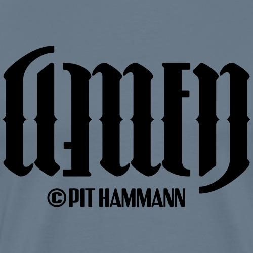Ambigramm Amen 01 Pit Hammann - Männer Premium T-Shirt