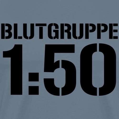Blutgruppe 1zu50 - Männer Premium T-Shirt