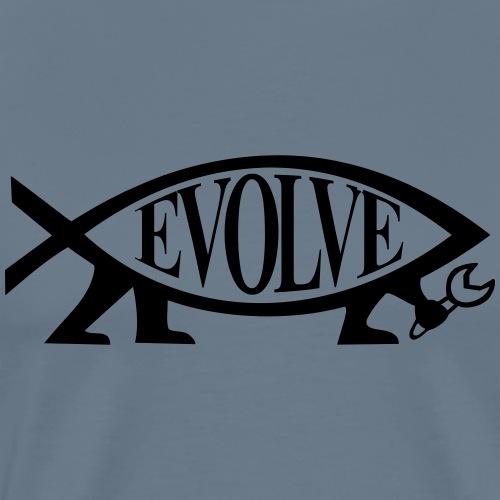 Navy Atheisten Darwin Fish Männer Langarm - Männer Premium T-Shirt