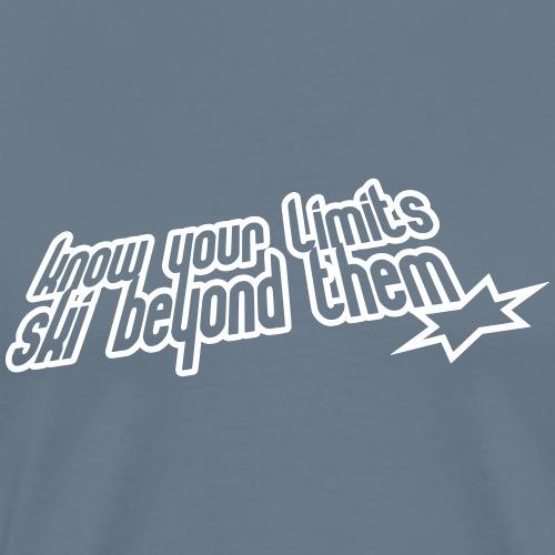 knowyourlimits - Maglietta Premium da uomo