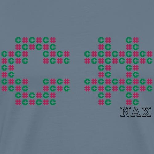 c sharp mosaic - Premium-T-shirt herr