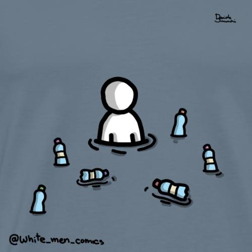 white man nel mare di plastica - Maglietta Premium da uomo